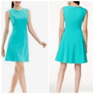 Nine West Fit & Flare Dress with Grommets Green 2